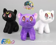 3X Sailor Moon Luna Artemis  Diana Cat Plush Doll Stuffed Anime Cosplay Toy 17cm