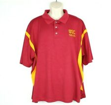 USC Trojans Polo Shirt XL Red Oak Sportswear 100% Polyester