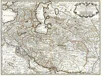MAP ANTIQUE MIDDLE EAST IRAN PERSIA DE L/'ISLE ART POSTER PRINT LV2121