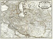 MAP ANTIQUE MIDDLE EAST IRAN PERSIA DE L'ISLE ART POSTER PRINT LV2121