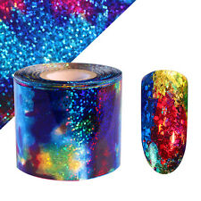 Starry Sky Nail Foil Holographic Paper Decal Manicure Glitter Nail Star Sticker