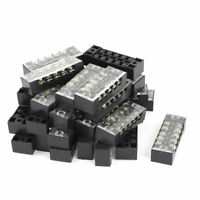 30pcs 600V 15A 5P Dual Row Electric Barrier Terminal Block Cable Connector Strip