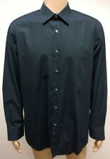 (Used) Mens Paul Smith London Long Sleeve Button Front Shirt Size: 17 / XL Black