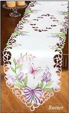 Embroidered Butterfly & Bow Table Linen RUNNER