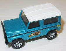 Matchbox Land Rover 90 4Wd Thailand Metalic Teal Green car right hand drive Nice