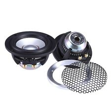 60W Midrange pair 87mm Car Speaker / 4 Ohm / installation depth: 42mm STEG MS30