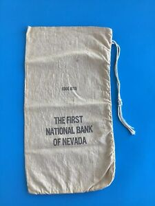 FIRSTI NATIONAL BANK OF NEVADA, Canvas Coin Cash Deposit Bag