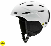 Smith Optics Mission Matte White MIPS Snowboard Ski Helmet - Large (59-63 cm)