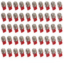 50Pcs Super Red T10 Wedge 5-SMD 5050 LED Light bulbs W5W 2825 158 192 168 194