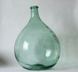 Dame-Jeanne l Bouteille l Bonbonne 10 L en verre soufflé vintage