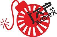 JAPWORX RISING SUN BOMB VINYL CAR STICKER jdm decal drift logo jap worx club