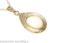 9ct Gold Opal Pendant and Chain Gift Boxed Made in UK