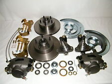 GM Front Disc Brake Conversion Kit Spindles Rotors Calipers A,F,X Body