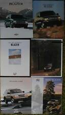 1995 - 2004 Chevy Blazer Sales Brochure Lot 11 pcs