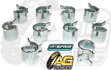 Apico Fuel Line Pipe Hose Clamp Clamps 8mm Clips x10 10 Pack Trike ATV Quad 4x4