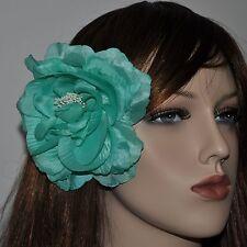 PIVOINE vert Vert menthe soie fleur broche boutonnière Bijoux de cheveux