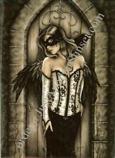 Jessica Galbreth Print A3 Fairy The Secret Door skeleton key masquerade Goth