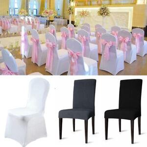 1-200 Stück Stuhlhussen Stretch Stuhlüberzug Stuhlbezug Hussen für Hochzeit
