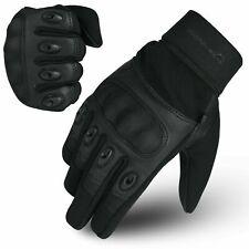 WFX Leather Motorbike Gloves Summer Hard Knuckle Touchscreen Biker Motorcycle