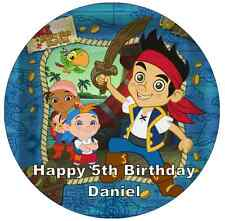 Jake And The Neverland Pirates Personalised Cake Topper Edible Wafer Paper 7.5""