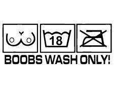 JDM OEM Aufkleber Boobs wash only Logo Aufkleber 17 cm Car Wash Hand