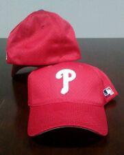 3e0bcf6f966 New MLB Philadelphia Phillies Home Red MESH FlexFit Hat Cap Med Large - PMJS