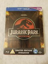 Jurassic Park STEELBOOK Blu Ray UK SOLD OUT SEALED Limited RARE