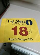 Ben Curtis PGA Golf Signed 2003 British Open Championship Official Pin Flag