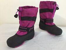 KAMIK Winter Snow Boots w/Felt Liners Fuchsia/Magenta & Black Size 2