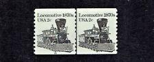 1981-4 U.S. Transportation 2c Locomotive COIL LINE PAIR  Sc#1897A  M/NH/OG GEM