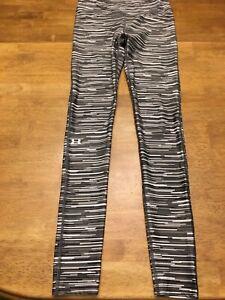 Under Armour Women's Heatgear Leggings-Small-Black/Gray print