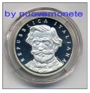 ITALIA MONETA DA 1000 LIRE G.VERDI 2001 PROOF ARGENTO CATALOGO 280 EURO