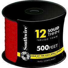 Southwire Thhn Building Wire 500 Ft 121 Heat Resistant Waterproof Solid Red