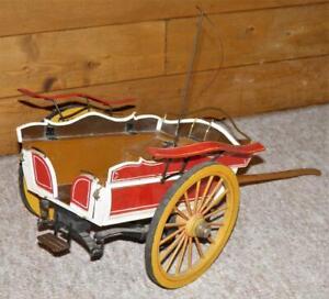 Antique Scratch Built Farmers Wilkinson Dairy Milk Float Horse Drawn Wagon Model