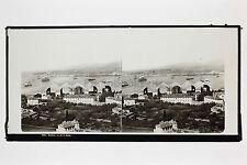 Toulon Vu de la Rade Photo Lachenal & Favre Plaque verre stéréo ca 1865