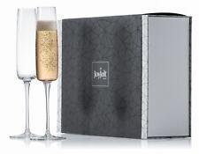 JoyJolt Amara Champagne Glasses, Set of 2 6 Oz Lead-Free Crystal Flute Glasses