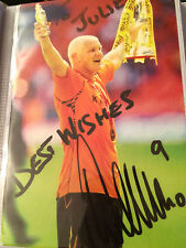 6x4 Hand Signed Photo of Hull City's Dean Windass