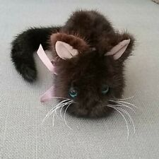 Genuine ranch mink kitten with pink ultrasuede ears and pink ribbon. Not a toy!