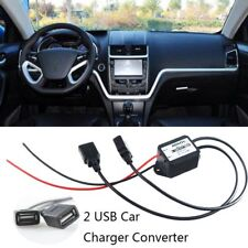 DIY Car Dual USB Charger 12V To 5V Power Converter Boat Motorcycle Charger