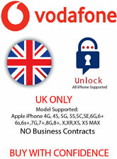Unlock Code Service for Apple iPhone X,XR,XS,XS MAX Vodafone UK