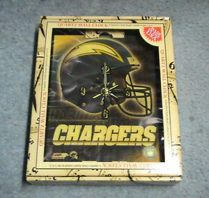 2000 San Diego Chargers Clock Los Angeles 10x12 Official NFL Football Made USA!!