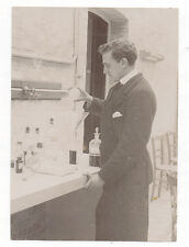 PHOTO - Portrait Chimiste Laborantin Scientifique Laboratoire Expérience - 1900s
