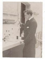 PHOTO - Portrait Chimiste Laborantin Scientifique Laboratoire Expérience - 1900s