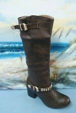 Forever 21 Women's  BROWN Tall Shaft Knee High  Riding Boots  SIZE 9