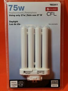 Utilitech CFL 75-W Equivalent Daylight  CFL Flood Light Bulb ~ New in Package