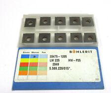 10 Wendeplatten 33475-1205 LW225 HW-P25 von Böhlerit Neu  H16967