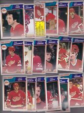 1983 - 84 OPC Team SET Lot of 18 Detroit RED WINGS NM+ o-pee-chee PARK GARE