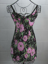 D&G Dolce & Gabbana Black Floral Sheer Back Cami Dress See Measurement