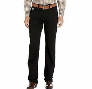 Cinch Silver Label Slim Fit Mid Rise Straight Leg Jeans   34 x 36       Black