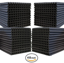Acoustic Foam Wedges 48pk Noise Reduction Panels Studio Recording Sound Blocking